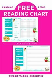 Reading Chart Printables Plus Editable Pdf Versions