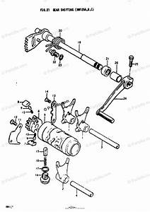 Suzuki Motorcycle 1978 Oem Parts Diagram For Gear Shifting