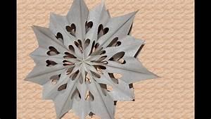 Sterne Aus Butterbrottüten Basteln : diy weihnachtsdeko weihnachtssterne aus papier butterbrott ten basteln youtube ~ Watch28wear.com Haus und Dekorationen