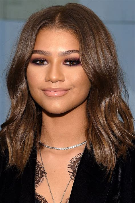 40 most stylish mid length haircuts zendaya pinterest