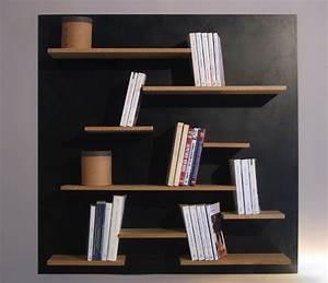 Bibliothèque Murale Bois : bibliothque murale la manufacture nouvelle ~ Premium-room.com Idées de Décoration