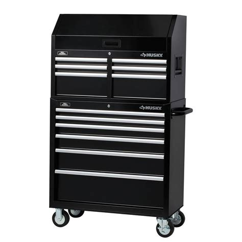 husky tool storage cabinets husky 36 in 12 drawer tool chest and cabinet set black