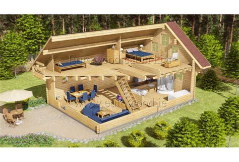 Koka mājiņa LINCOLN 6х9 m, 68 mm (95m²)
