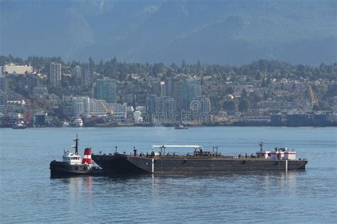 Boat Fuel Prices Vancouver by Tug Boat And Fuel Barge Vancouver Royalty Free Stock