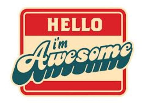 Awesome Clip Hello Im Awesome Free Images At Clker Vector Clip