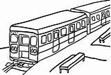 Train Coloring Subway Passenger Cars Template Vector Printable Sandwich Getcolorings Sub Rain Spring Getdrawings Popular sketch template