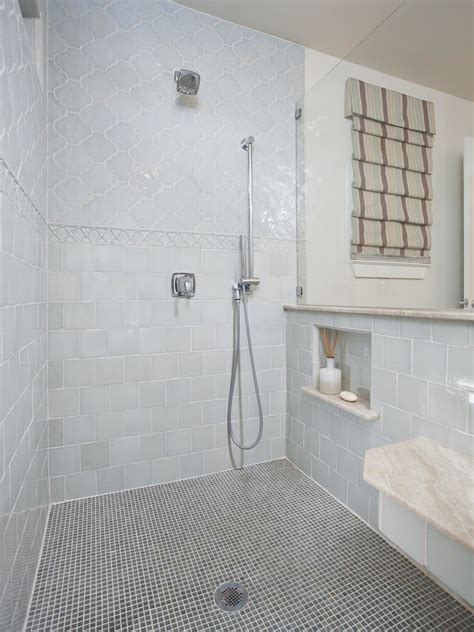 arabesque tile Bathroom Mediterranean with Arabesque Tile