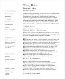 personal trainer resume template 7 free word pdf