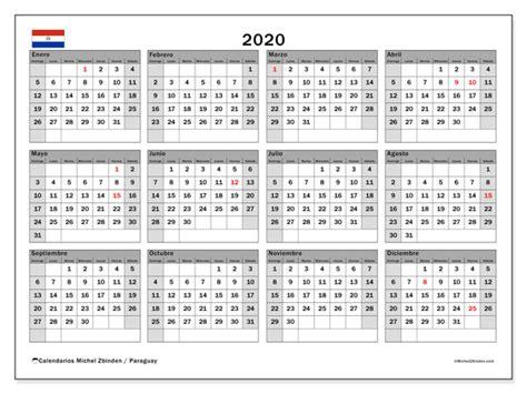 calendario paraguay michel zbinden es