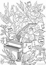 Coloring Piano Pages Adult Adults Printable Colouring Sheets Favoreads Flower Detailed Designs Books Popular Sold Etsy Mandala sketch template