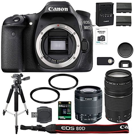Canon EOS 80D Digital SLR Camera 18 55mm STM Canon 75