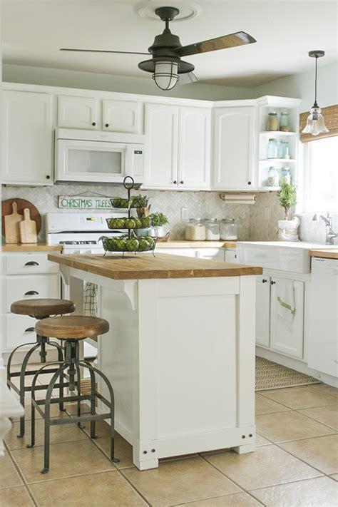 DIY Kitchen Island with Trash Storage   Shades of Blue
