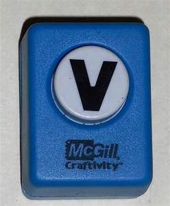 sold out mcgill craftivity paper punch letter v upper case With letter paper punch