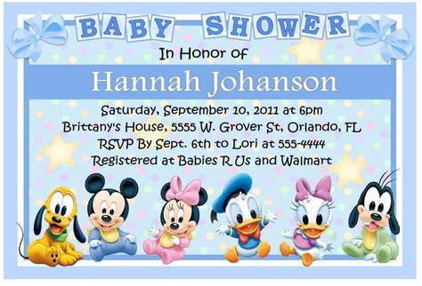 disney world baby shower invitations dolanpedia