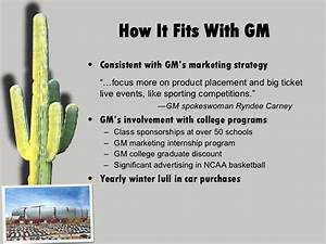 Proposed Fiesta Bowl Sponsorship for GM (exercise)