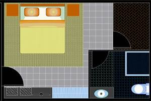 Hotel room design in auto cad -Dwg file