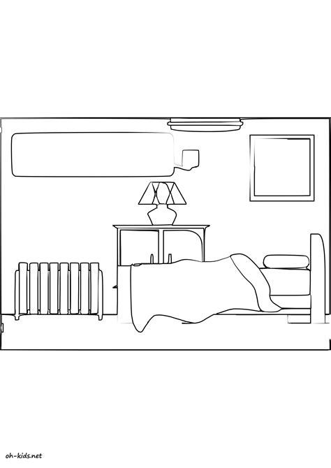 chambre dessin coloriage chambre oh fr