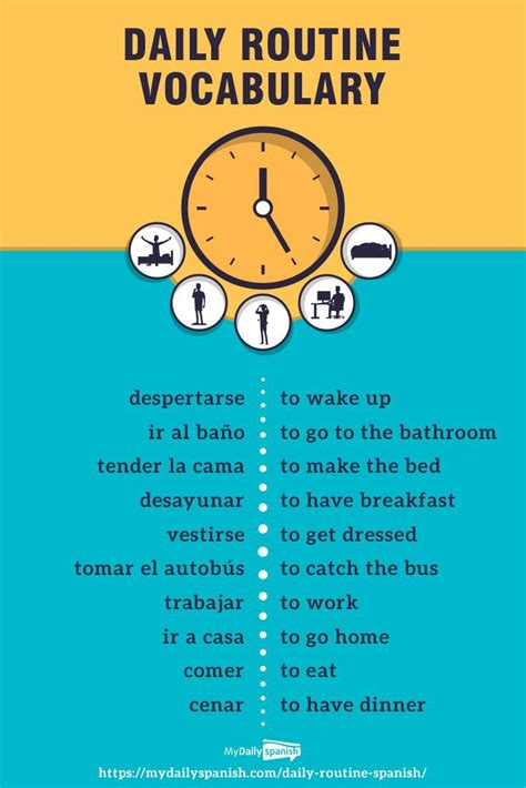 spanish words  phrases  express  daily routine