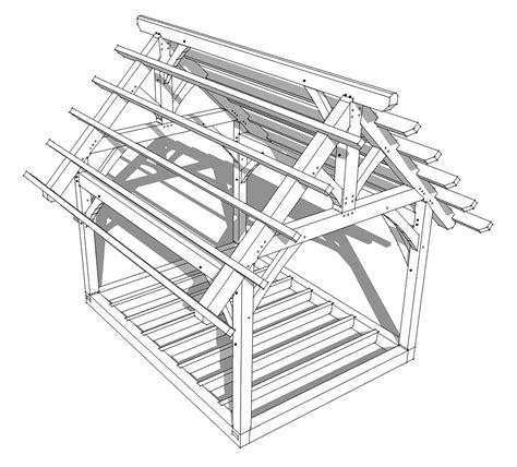 king post timber frame plan timber frame hq