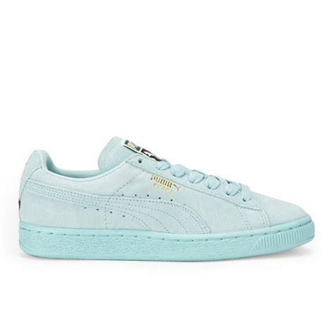 light blue puma shoes puma women 39 s suede classics trainers light blue free