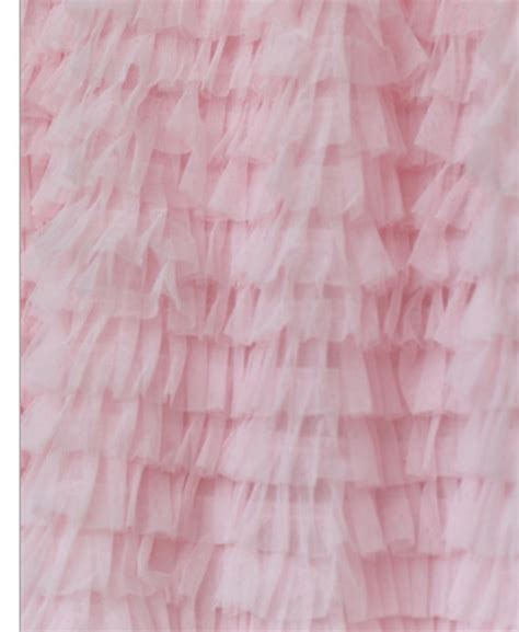 ruffle tulle curtain valance pink 13 inches by