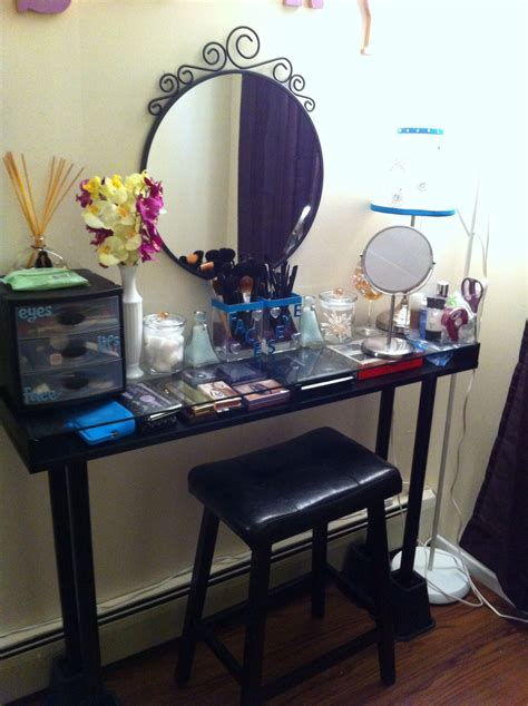 Creative Vanity Ideas by When In Doubt Make Your Own Vanity Table