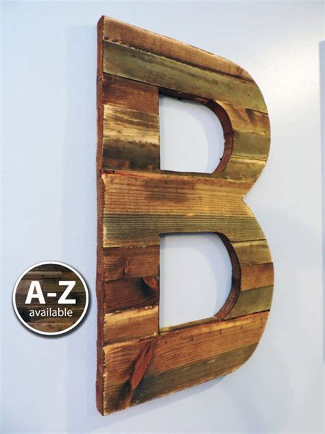 large wood letters rustic letter cutout custom wooden