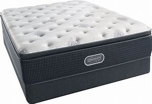 beautyrest recharge silver offshore mist pillow top plush With best plush king size mattress