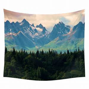 Forest Nature/Lantern Scenery Art Tapestry Wall Hanging ...
