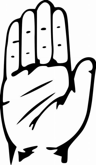 Congress Hand Symbol Clipart Clip Cliparts Indian
