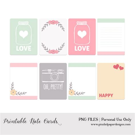 free printable cards 50 free printable valentine s day project life cards fab n free