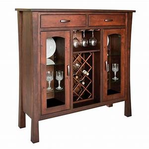 Woodbury Collection Wine Cabinet - Amish Crafted Furniture