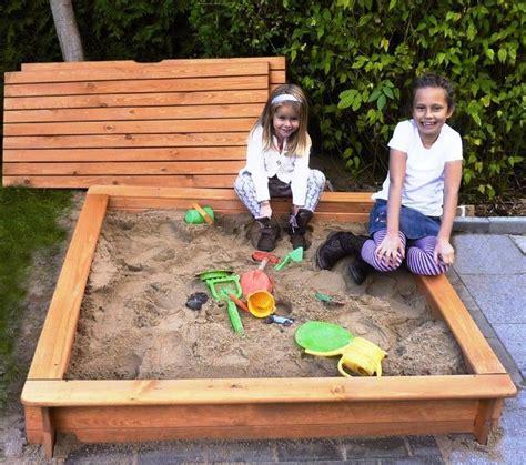 großer sandkasten mit abdeckung sandkasten tessa 100 x 100 cm g 252 nstig bestellen