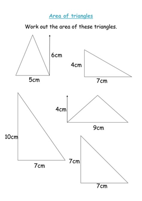 area of triangles worksheet area of triangles worksheet by groov e chik teaching resources tes
