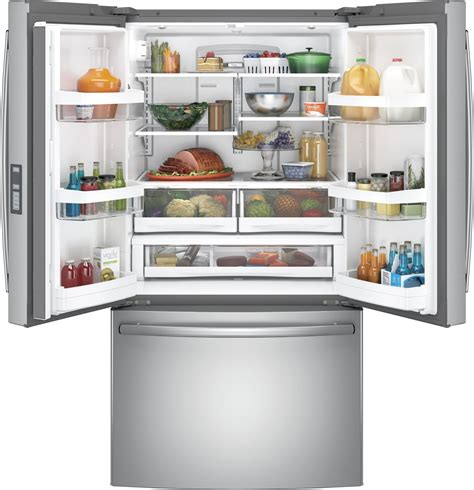 gnegskss ge  french door refrigerator led lights ice maker stainless steel energy star