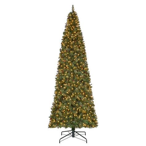 martha stewart living 8 ft pre lit led snowy brown artificial christmas tree 9772920820 the