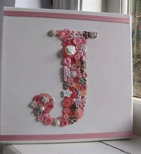 Items similar to letter initial button canvas letter j for Letter canvas