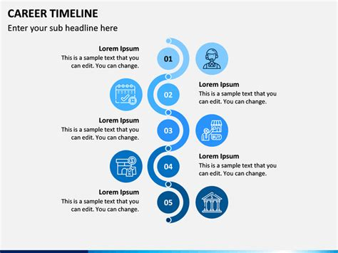 career timeline powerpoint template sketchbubble