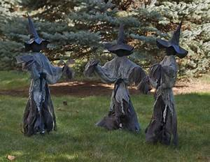 Lawn, Witches, Halloween, Decoration