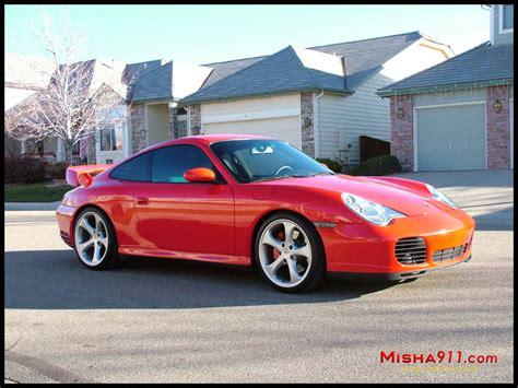 Misha Gt2m Wing On Red Porsche 996 C4s