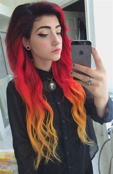 top  fiery red ombre hair ideas hairstylesout