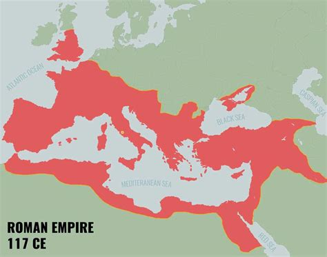 Map Of The Roman Empire In 117 Ce  Image  Know The Romans
