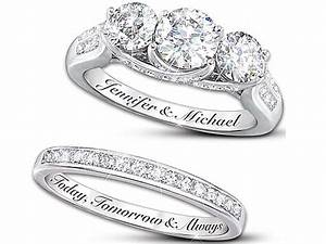 25th anniversary diamond rings wedding promise diamond With 25th wedding anniversary rings