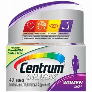 Centrum Silver Multivitamins For Women Over 50  Multivitamin  Multimineral Supplement With