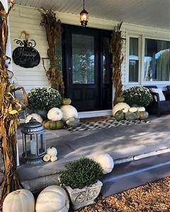 20, Beautiful, And, Festive, Fall, Front, Porch, Decorating, Ideas