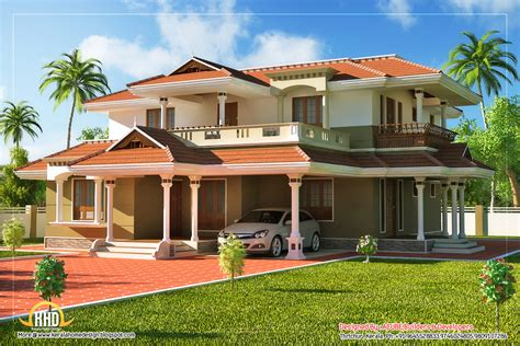 Beautiful Kerala Style 2 Story House  2328 Sq Ft