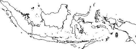 blank outline map  indonesia
