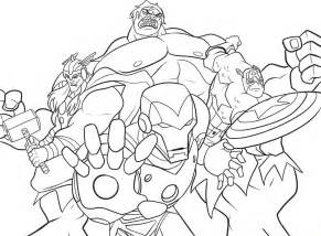Marvel Avengers Coloring Pages Printable
