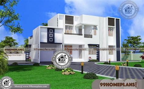 small modern house plans flat roof story unusual plan porch