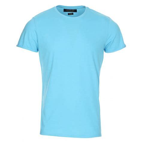 neck plain t shirt mens turquise marl crew neck plain t shirt
